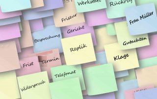 Aufgabenmanagement - alle Aufgaben im Blick (Frist, Wiedervorlage, Telefonat, Notiz, Bearbeiter-Aufgabe), Fristenkontrolle nach vier-Augen-Prinzip, Organisation von Teamarbeit und Workflow in der Kanzlei - LawFirm Kanzleisoftware für Anwälte