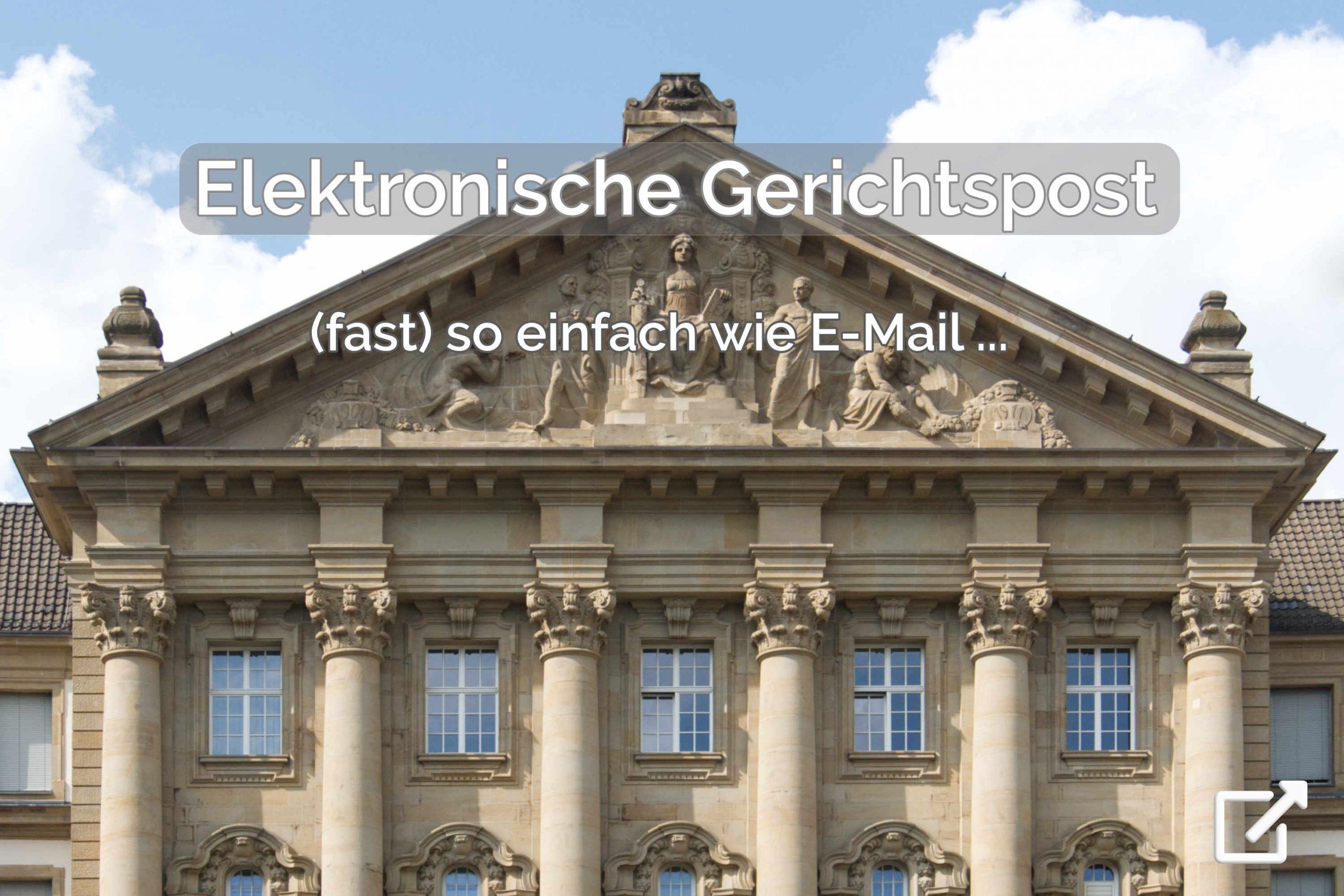 Elektronische Gerichtspost (fast) so einfach wie E-Mail - elektronischer Rechtsverkehr (ERV) mit dem Anwaltspostfach (beA) oder Governikus Communicator (via EGVP) - mit der Premium Anwaltssoftware LawFirm (OLG Köln) für Kanzlei, Rechtsabteilung und Inkasso-Unternehmen