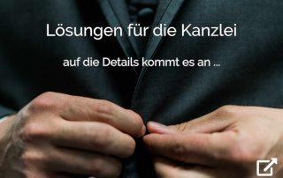clevere Kanzleilösungen: auf die Details kommt es an... - Kanzleiarbeit in Anwaltskanzlei, Rechtsabteilung und Inkasso-Unternehmen - mit der Premium Anwaltssoftware LawFirm (Anzug auf Anhieb richtig zugeknöpft)