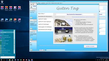 Office 2016 und Anwaltssoftware LawFirm im Windows Server 2016 Startfenster