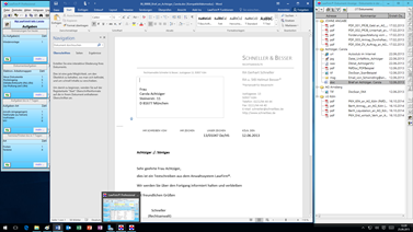 Office 2016 - Word 2016 Dokument in der E-Akte der Kanzleisoftware LawFirm (Dokumenten Viewer)
