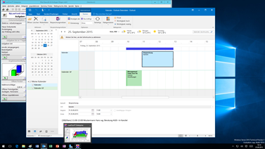 Office 2016 - Anwaltssoftware LawFirm Outlook 2016 Synchronisation - Kalender Planungs-Ansicht (mehrere Kalender untereinander)