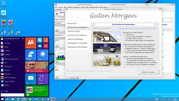 Erster Test mit Windows 10 Technical Preview: Die neue Version der Anwaltssoftware LawFirm mit neuem, modernem Benutzeroberflächen-Design wurde bereits erfolgreich getestet.