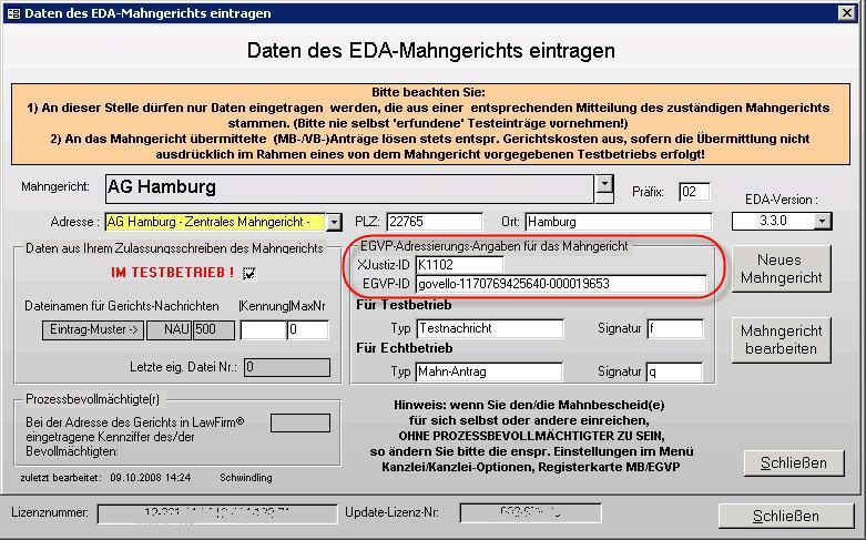 Nachricht Des Ag Hamburg Zur Umstellung Der Xjustiz Id Am 01112009