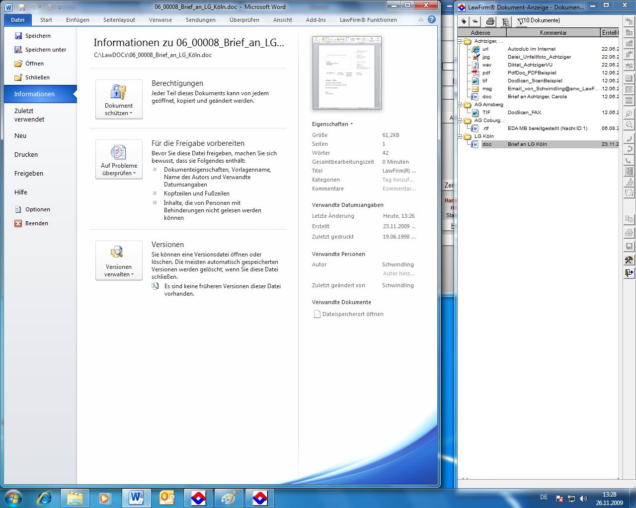 Lawfirm Mit Office 2010 Beta Getestet Bildergalerie