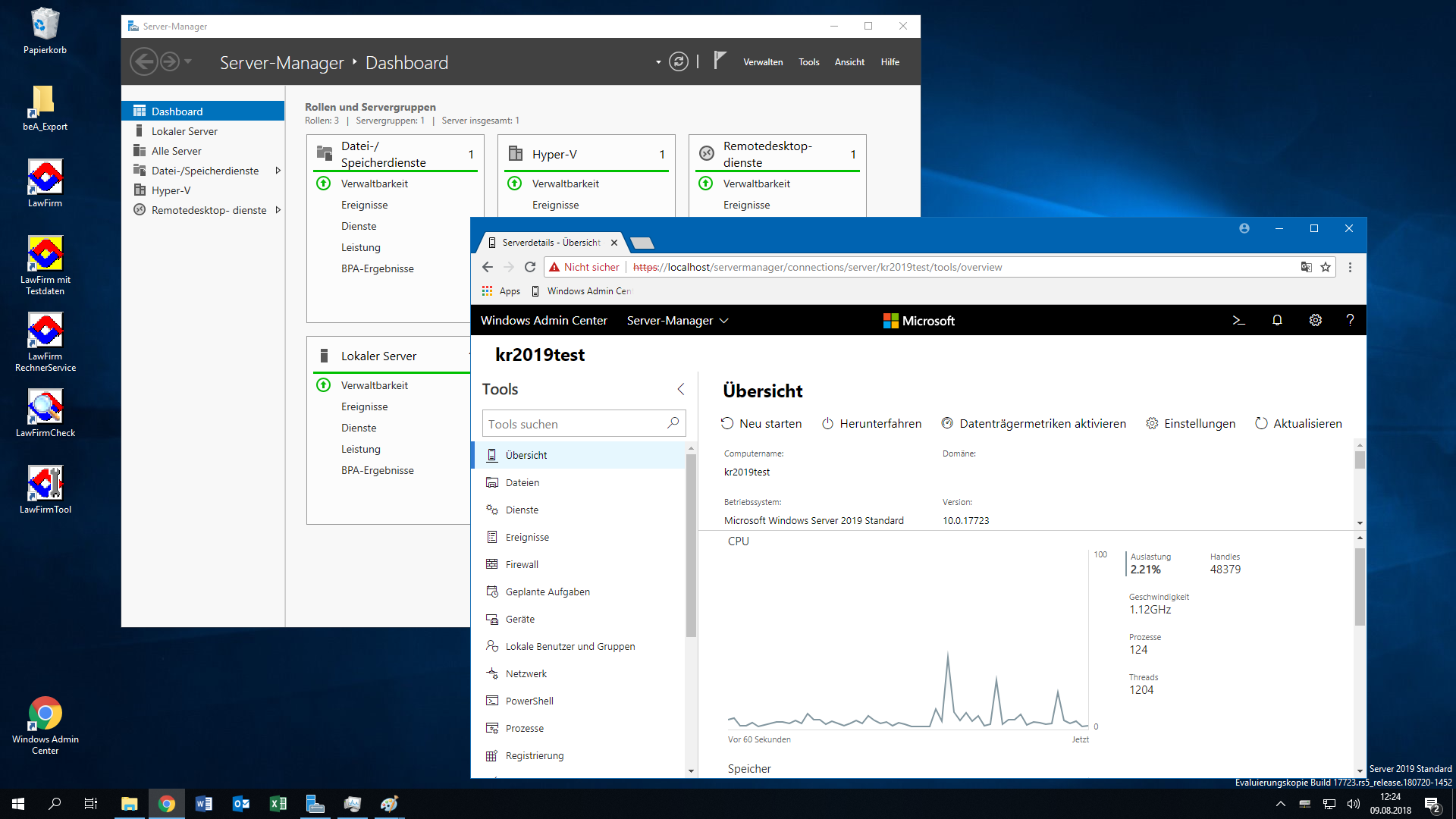 lawfirm mit windows server 2019  preview